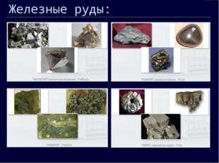 Железные руды: