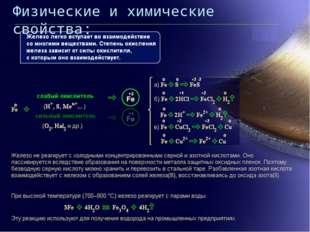 Физические и химические свойства: