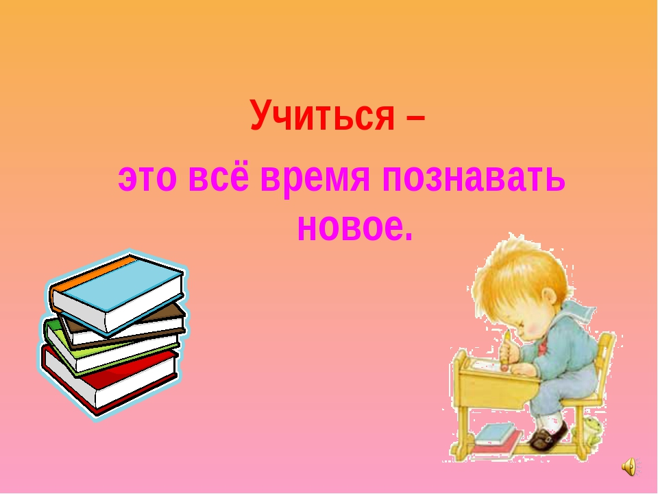 Учиться – это всё время познавать новое.