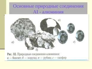 Основные природные соединения АI - алюминия
