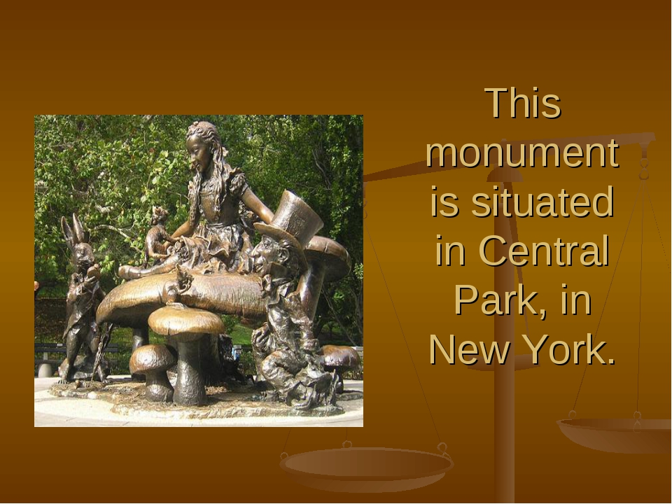 This monument is situated in Central Park, in New York.