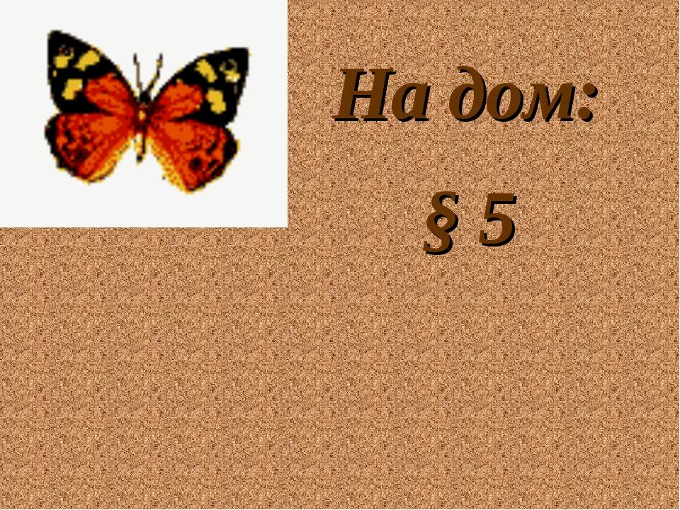 На дом: § 5