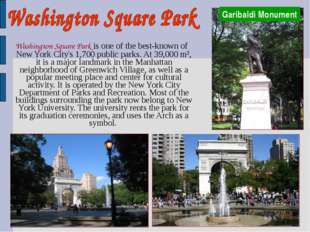 Washington Square Park is one of the best-known of New York City's 1,700 pub