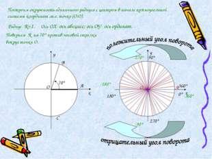 х у В С х у 90° 180° 270° 360° 0° -90° -180° -270° -360° Построим окружность