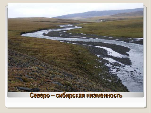 Северо – сибирская низменность