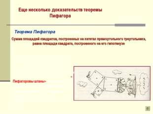 Еще несколько доказательств теоремы Пифагора Теорема Пифагора ( другая формул
