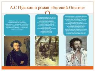 А.С Пушкин и роман «Евгений Онегин»