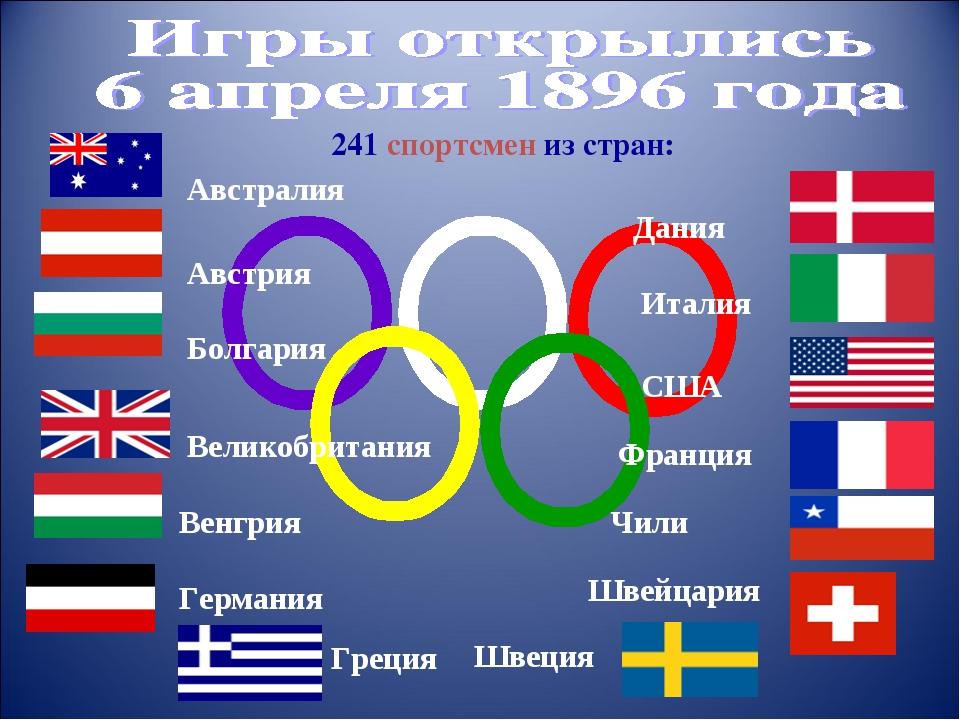 Дания Австралия Австрия Болгария Великобритания Венгрия Германия Греция 241 с...