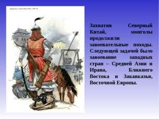 Захватив Северный Китай, монголы продолжили завоевательные походы. Следующей