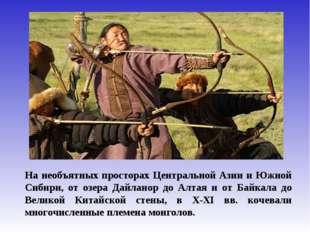 На необъятных просторах Центральной Азии и Южной Сибири, от озера Дайланор