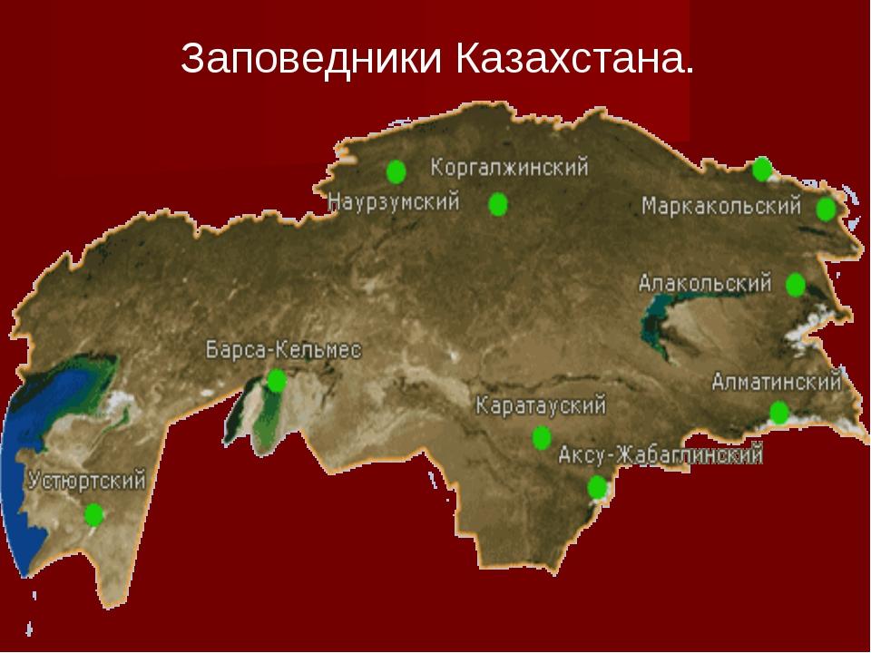 Заповедники Казахстана.
