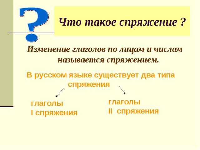 Что такое спряжение ? Изменение глаголов по лицам и числам называется спряжен...