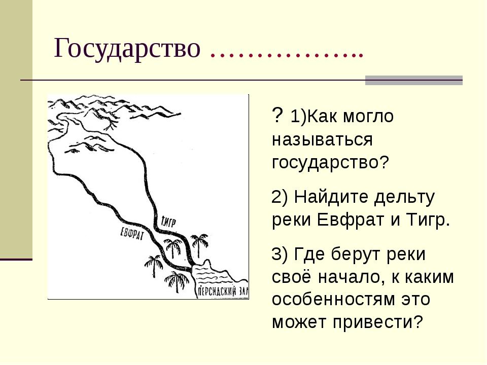 Государство …………….. ? 1)Как могло называться государство? 2) Найдите дельту р...