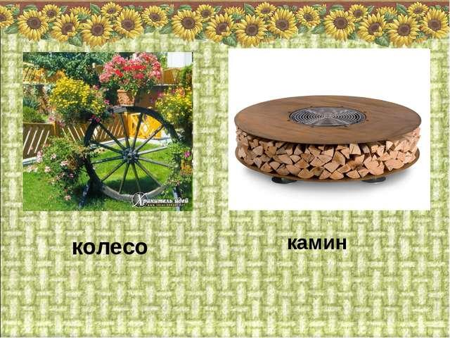 колесо камин