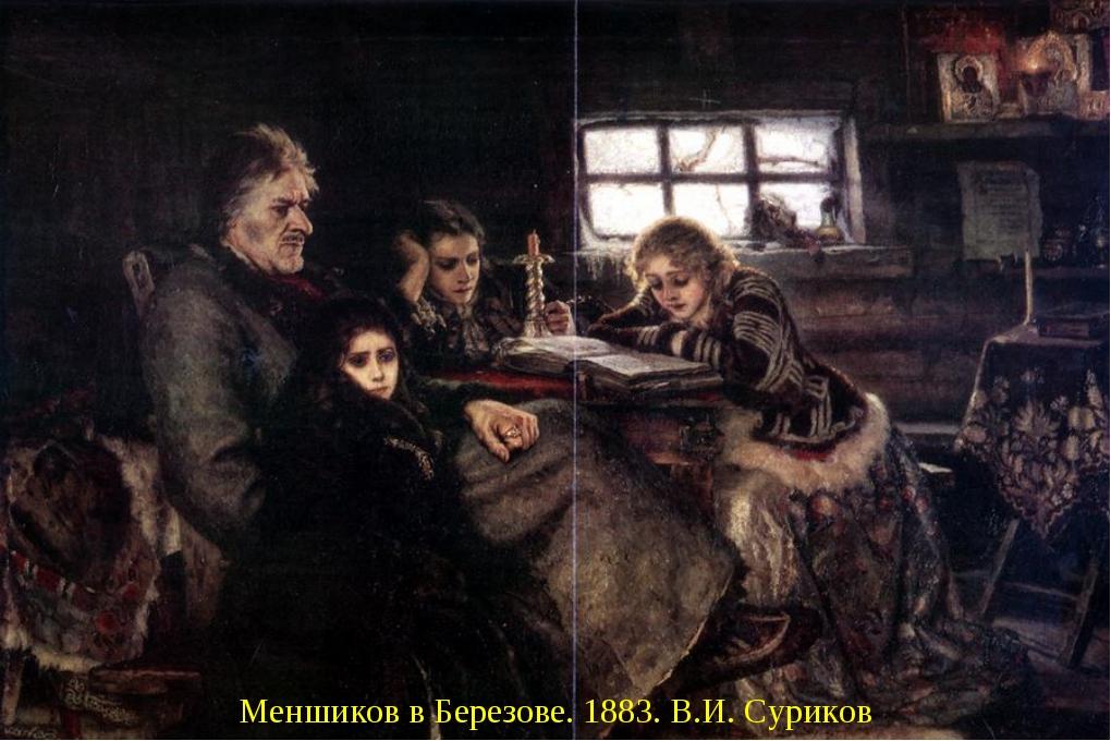 Меншиков в Березове. 1883. В.И. Суриков Меншиков в Березове. 1883. В.И. Сури...