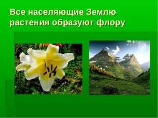 Все населяющие Землю растения образуют флору