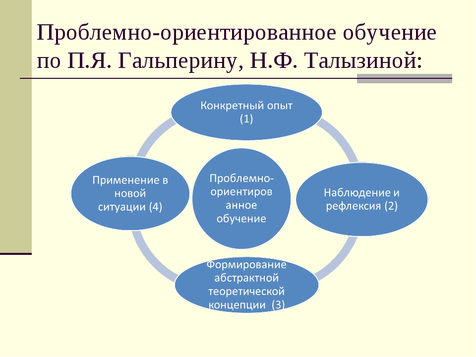 Проблемно-ориентированное обучение по П.Я. Гальперину, Н.Ф. Талызиной: