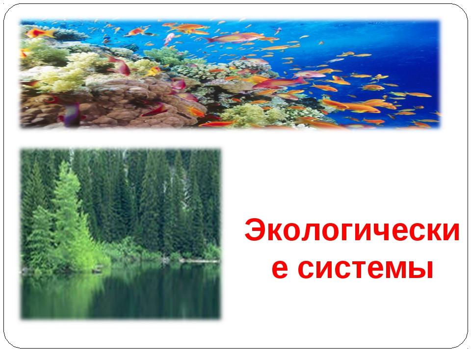 Экологические системы