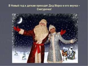 В Новый год к деткам приходят Дед Мороз и его внучка – Снегурочка!