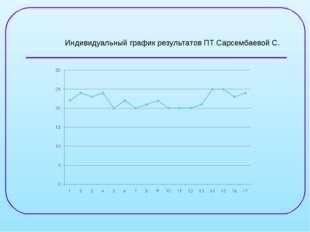 Индивидуальный график результатов ПТ Сарсембаевой С.