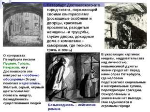 Петербург Достоевского-это город-гигант, поражающий своими контрастами (роско