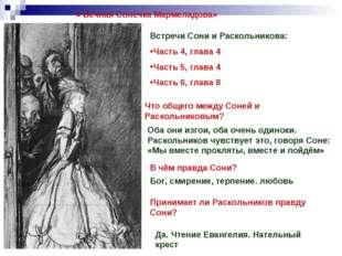« Вечная Сонечка Мармеладова» Встречи Сони и Раскольникова: Часть 4, глава 4