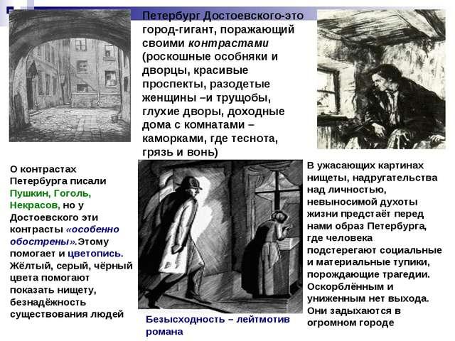 Петербург Достоевского-это город-гигант, поражающий своими контрастами (роско...