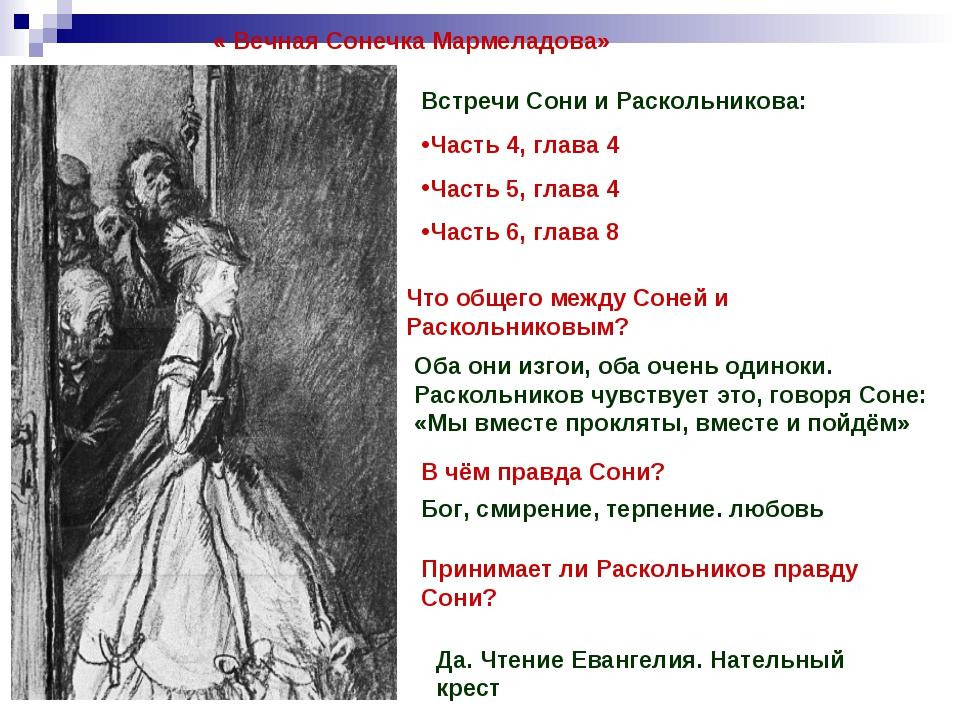 « Вечная Сонечка Мармеладова» Встречи Сони и Раскольникова: Часть 4, глава 4...
