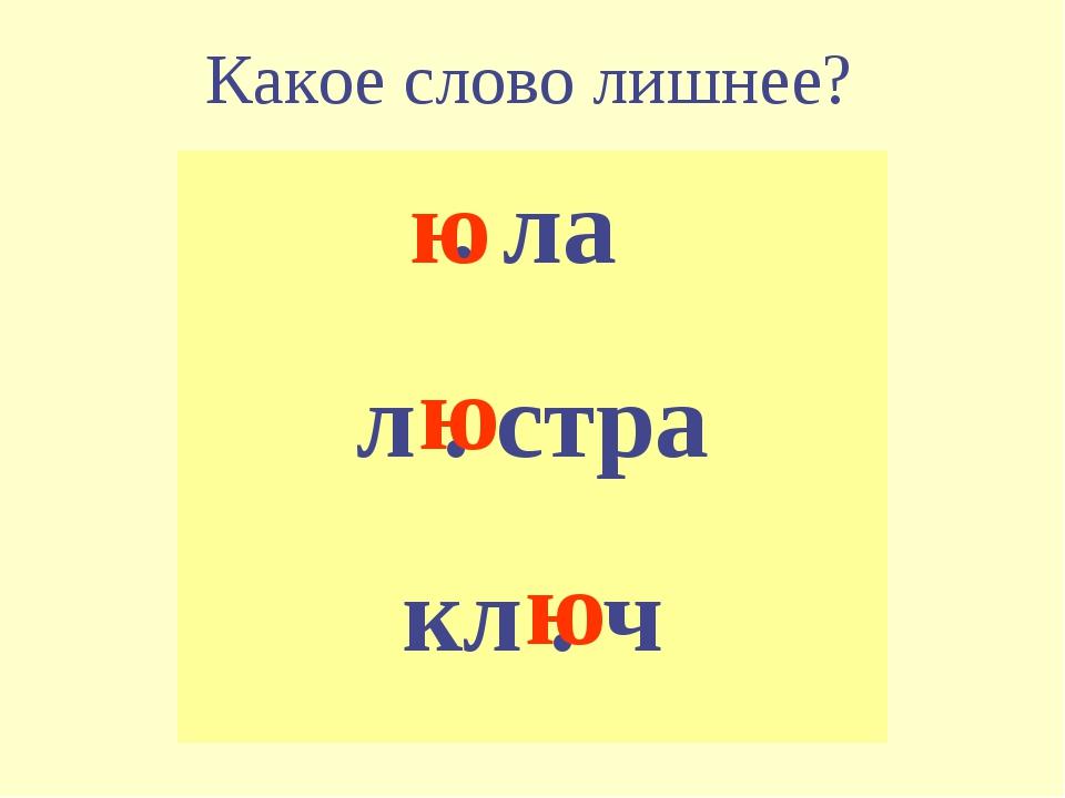 Какое слово лишнее? . ла л . стра кл . ч ю ю ю