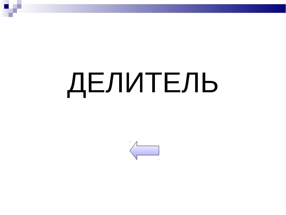 ДЕЛИТЕЛЬ