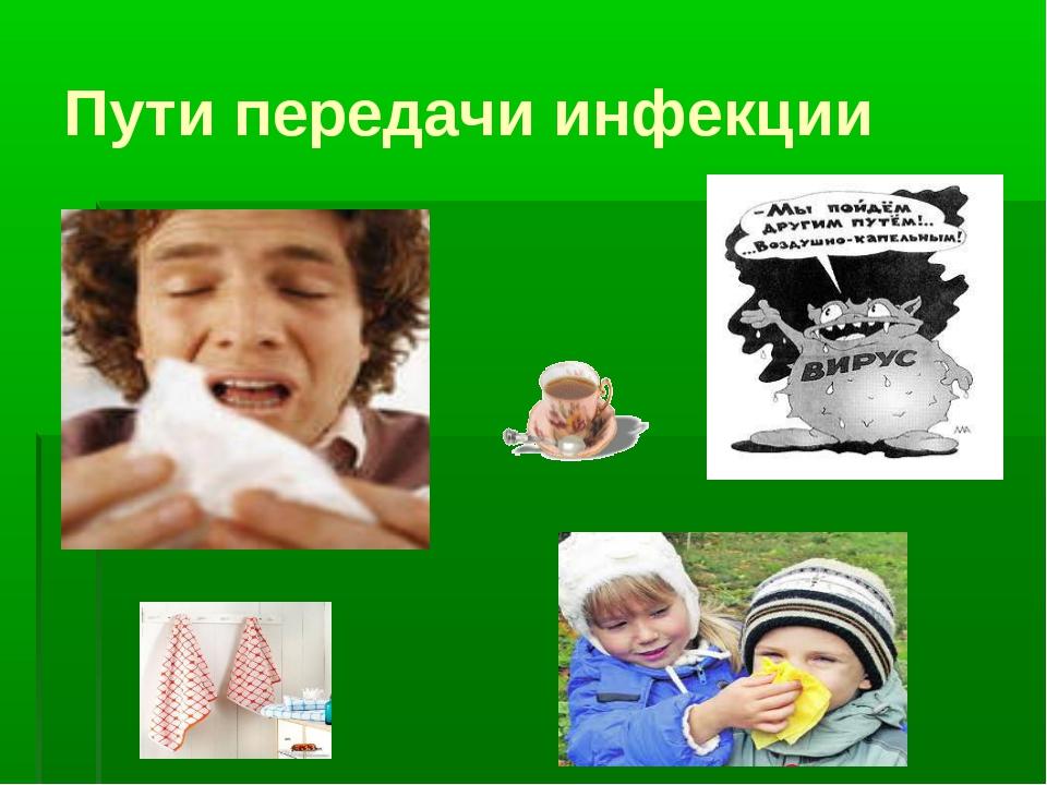 Пути передачи инфекции