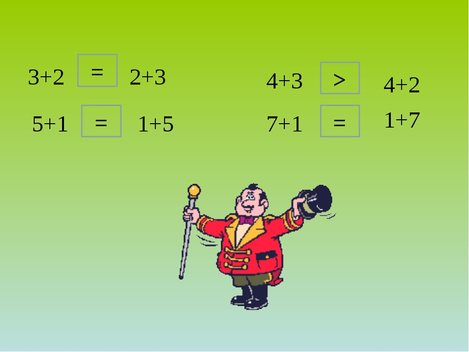 5+1 3+2 7+1 2+3 = 1+5 = > 4+3 4+2 = 1+7