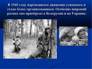 В 1943 году партизанское движение усилилось и стало более организованным. Осо