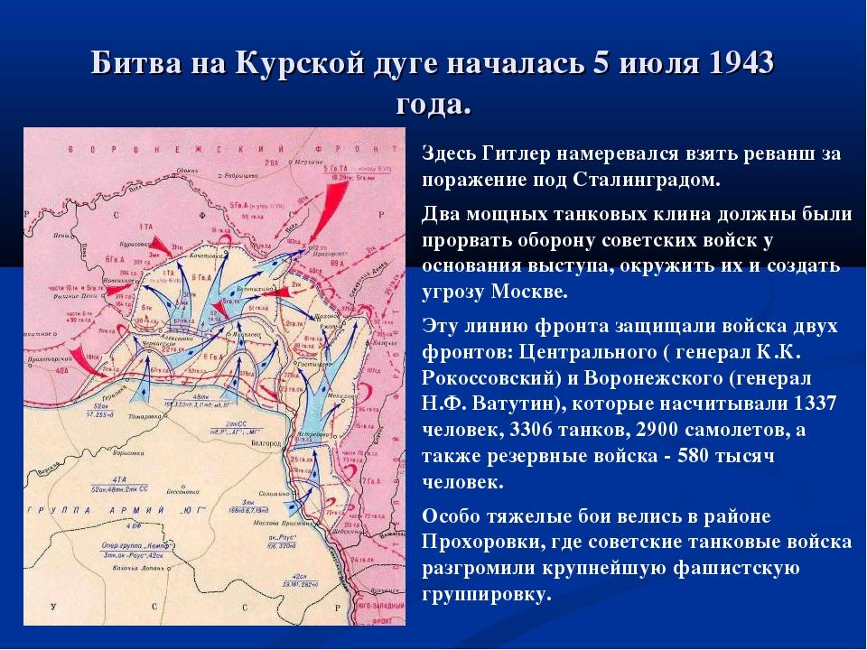 Битва на Курской дуге началась 5 июля 1943 года. Здесь Гитлер намеревался взя...