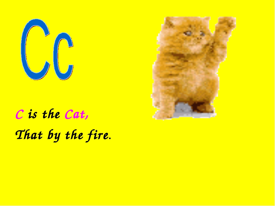 C is the Cat, That by the fire.