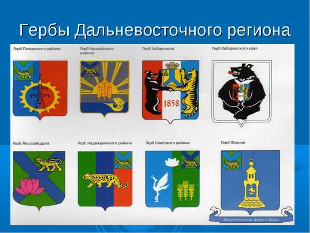 Гербы Дальневосточного региона
