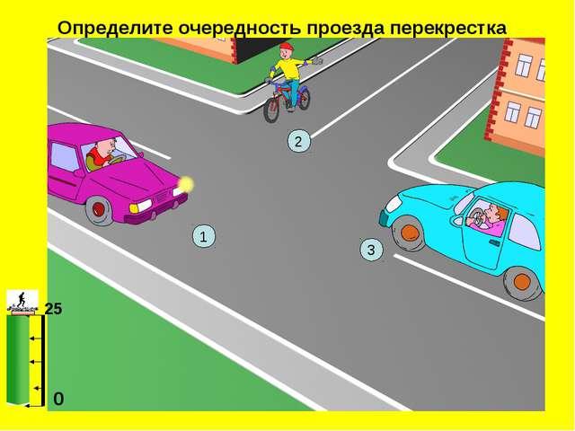 Определите очередность проезда перекрестка 25 0 3 1 2