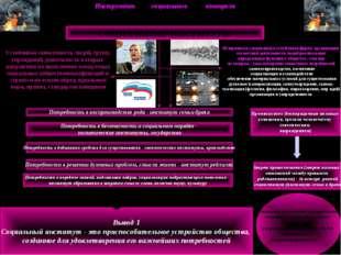 Инструмент социального контроля СОЦИАЛЬНЫЕ ИНСТИТУТЫ Устойчивая совокупность