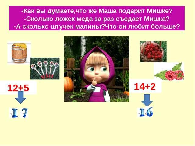-Как вы думаете,что же Маша подарит Мишке? -Сколько ложек меда за раз съедает...