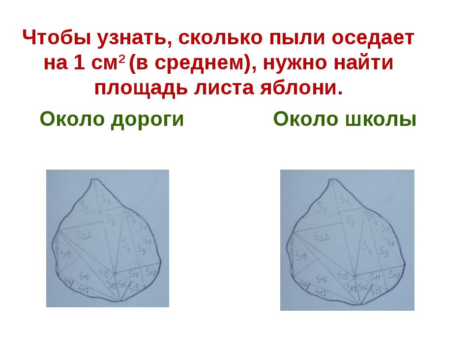 Чтобы узнать, сколько пыли оседает на 1 см2 (в среднем), нужно найти площадь...
