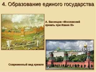 А. Васнецов «Московский кремль при Иване III» 4. Образование единого государс