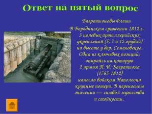 Багратионовы Флеши В Бородинском сражении 1812 г. 3полевыхартиллерийских ук