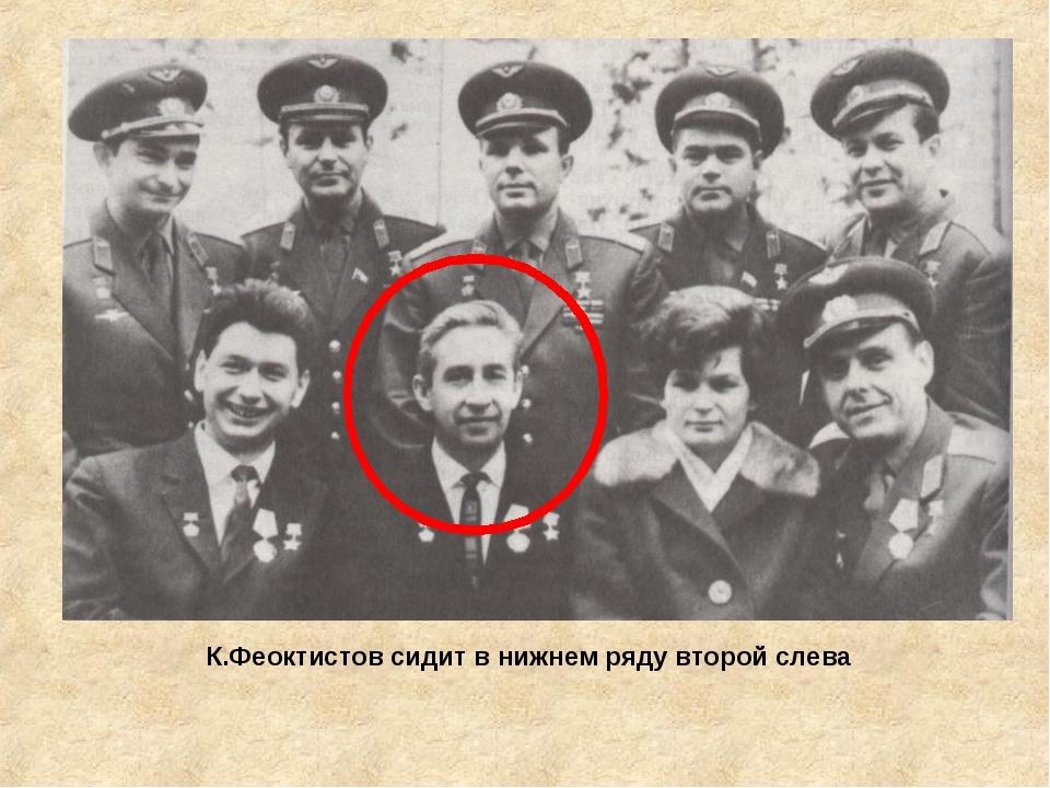 К.Феоктистов сидит в нижнем ряду второй слева