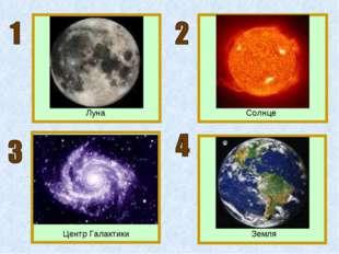 Луна Солнце Земля Центр Галактики