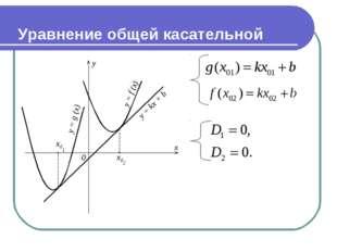 Уравнение общей касательной
