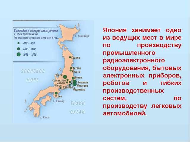 Япония занимает одно из ведущих мест в мире по производству промышленного рад...