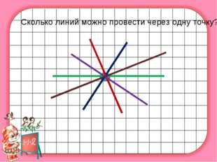 Сколько линий можно провести через одну точку?