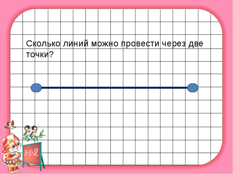 Сколько линий можно провести через две точки?