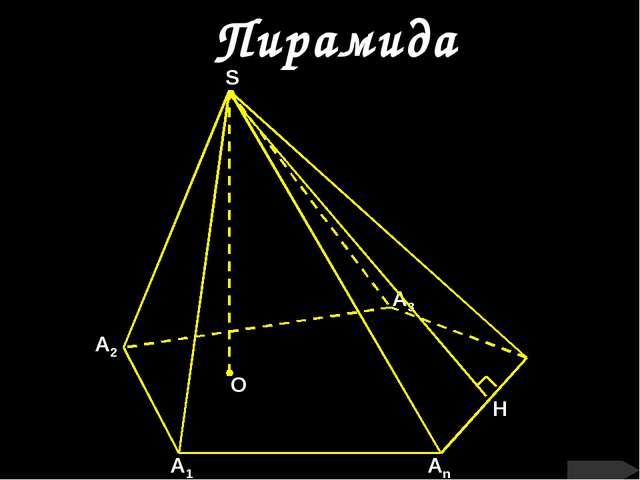 Пирамида О А1 Аn А2 А3 S H