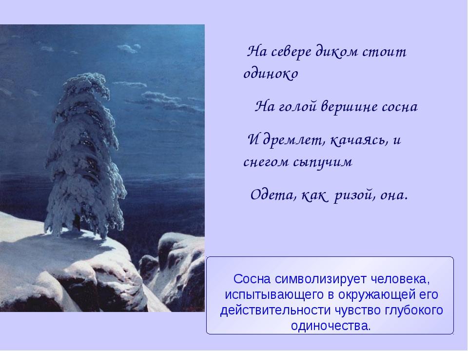 На севере диком стоит одиноко На голой вершине сосна И дремлет, качаясь, и с...